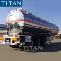China TITAN 3 Axles Water Tank Stainless Steel Truck Semi Trailer on sale