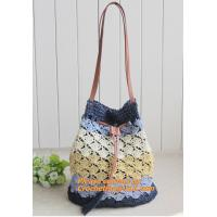 Straw pattern beach bags women handbag Women Bag in shoulder pouch for female bags Manufactures