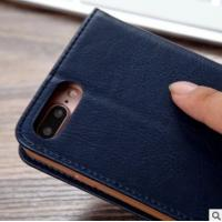 Quality iPhone7 plus phone leather case buckle-free rotary adsorption card wallet for sale