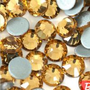 3.8-4.0mm Round Flat Back Hot-Fix Topaz Rhinestones Manufactures