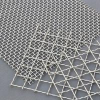 China Decorative Crimped Woven 65mn Square Hole Mine Sieving Galvanized Steel Material on sale