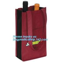China non woven wine tote bags, single bottle size, 6 bottle bag, 8 bottle bags, Big size Non woven bag 100 gsm, bagease pack on sale
