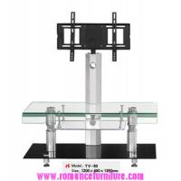 China hot bending glass and stainless legs TV stand TV-50 on sale