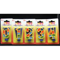 Handmade Painted Number Candle with Blue Set Square and Yellow Edge with colorful Paintings Manufactures
