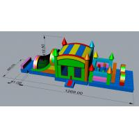 China High Strength Jumping Obstacle Course Bounce House  Lead Free Customized Design on sale
