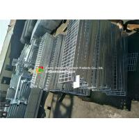 Welded Serrated Steel Bar Grating , Various Size Galvanized steel Grating Manufactures