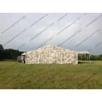 China Camouflage Roof Cover Military Surplus Canvas Tent Aluminum Structure For Army Training Base on sale