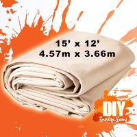 UV Resistance Painters Canvas Drop Cloth , Unbleached Fabric Drop Cloth Manufactures
