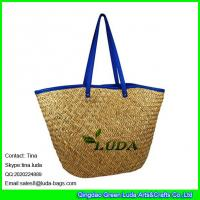 LUDA 2016 new products seagrass straw handbags with leather strap Manufactures