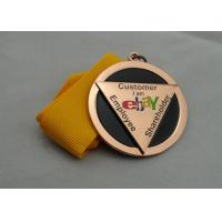 Die Casting Ribbon Medals with Imitation Hard Enamel, Copper Plating And Gold Plating, 2 Levels Manufactures