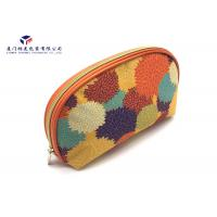 China Semicircular Shape Women Fashion Fabric Makeup Case Unique Design 19X5X14cm on sale