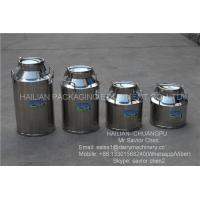Safety Double Layers 40L Stainless Steel Milk Bucket For Dairy Farm Manufactures