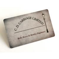 Golssy Finish Smooth PVC Business Cards With Flat Serial Number Waterproof Manufactures