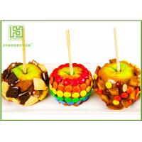 Natural Color Pointed Wooden Sticks , Candy Apples Sticks For Supermarket Manufactures