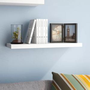MDF Paint Rustic Floating Wall Shelf / Floating Display Shelves Fashion Design