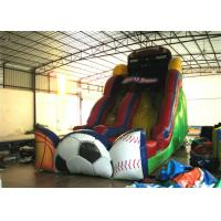 Exciting Inflatable commercial dry slide football sport games themed inflatable standard slide Manufactures