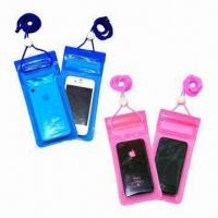 Waterproof PVC Holder for iPhone, with 3 Lock Zipper Closures, Small in Size Manufactures