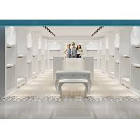 White Color Baby Clothing Store Fixtures With Pre - Assembly Structure Manufactures