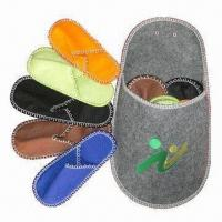 5-in-1 indoor embroidered felt slippers set, handmade and fashionable design, meets EU standards Manufactures
