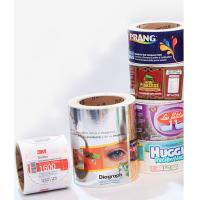 customized Printed direct thermal self adhesive label sticker paper roll Manufactures