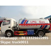 dongfeng 95hp 5500L bulk lpg gas delivery truck for sale, hot sale best price dongfeng 2.3tons propane gas tank truck Manufactures