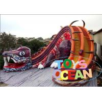 China 17 Foot Body Length Backyard Inflatable Water Slides With Digital Printing 11.28 x 9.7 x 8.6m on sale