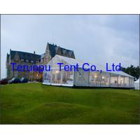 China Beautiful Appearance Glass Wall Tent Large Space Transparent Marquee Tent on sale