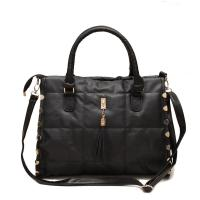 Ladies Casual Quilted Black Shoulder Bags For Party , Girl Shoulder Bags Manufactures