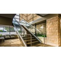 Modern Home Glass Panel Handrail Aluminum U Channel Railing Stair Balustrade Design Manufactures