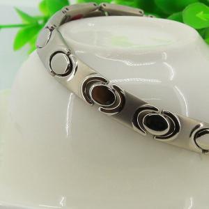 Silver Free Handmade Logo 316L Steel Bio Element Bracelets for Magnetic Clasp,women