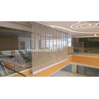 Full Color P10.42mm Led Transparent Video Glass Wall Screen Over Than 4200 Brightness Manufactures