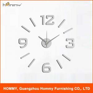 Digital wall clock fashion clock plastic sticker clock on the wall Manufactures
