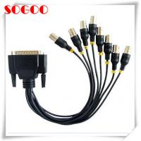 China User Friendly DB25 To BNC Cable , Video Adapter Cable Customized Length on sale