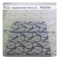 Women Garments Nylon Cotton Lace Fabric With Floral Panel 1.45 - 1.5m Width Manufactures