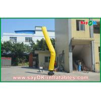 China Yellow Inflatable Guy , Advertisement Air Dancers Inflatables on sale