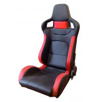 Comfortable PU Leather Sport Auto Racing Seats / Black And Red Racing Seats Manufactures