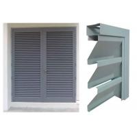 Vision Screen Sight Proof Ventilation Aluminium Louvre Windows For Residential Manufactures