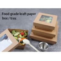 Brown kraft Paper takeaway box for fast food and salad Manufactures