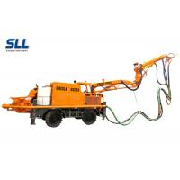 Robotic Telescopic Arm Concrete Pumping Machine For Mine / Tunnel / Construction Manufactures