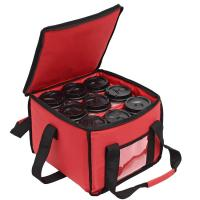 Delivery Custom Insulated Food Bags , Insulated Collapsible Tote Bag Carrier 9 Cups Manufactures