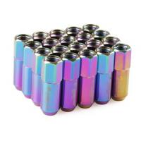 Neo Chrome Racing Wheel Nuts 12 x 1.5 for Acura , Toyota , Mazda , Buick , Ford Manufactures