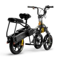 14 Inch Mini Electric Tricycle Bike , Electric Foldable Tricycle With 3 Wheels for sale