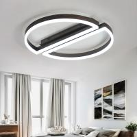 China Acrylic Led Ceiling lights with remote control for Living room Bedroom plafonnier led Black White Led Ceiling lamp on sale