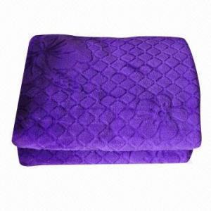 Stock Coral Fleece/Microfiber Blanket in Purple Manufactures