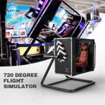 Intelligent Induction Seat Belt 720 degree VR Flight Simulator In Malls 3.5KW Manufactures
