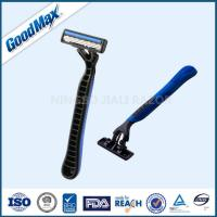 Stainless Steel Triple Blade Shaver Disposable With Non - Slip Rubber Grips Manufactures