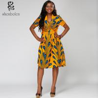 100% cotton  African print suit  Ankara batik wax  sleeveless wholesale ladies'  boutique Manufactures