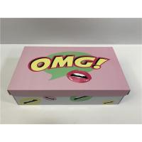 Durable Cardboard Shoe Boxes With Cute Logo Flexible Capacity For Girls Shoes Manufactures