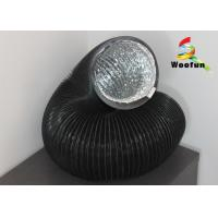 Quality Black Aluminum Round Flexible Duct , Multi - Function Elastic PVC Air Duct for sale