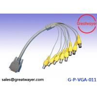 Female Wire Harness Cable Connectors for CCTV System , VGA to 8BNC Video Graphics Array Manufactures